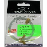 TRAUN RIVER Full Funktion Leader Dry Fly 4X..