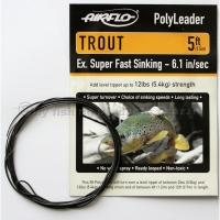 AIRFLO 5 ft. Polyleader Trout ESFS  6.1 Sek..
